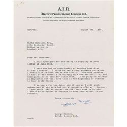 George Martin Typed Letter Signed