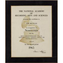 Beatles 1965 'Help!' Grammy Nomination