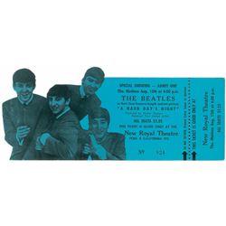 "Beatles Pair of 'Hard Days Night"" Tickets"