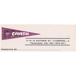 Beatles Cavern Club Business Card