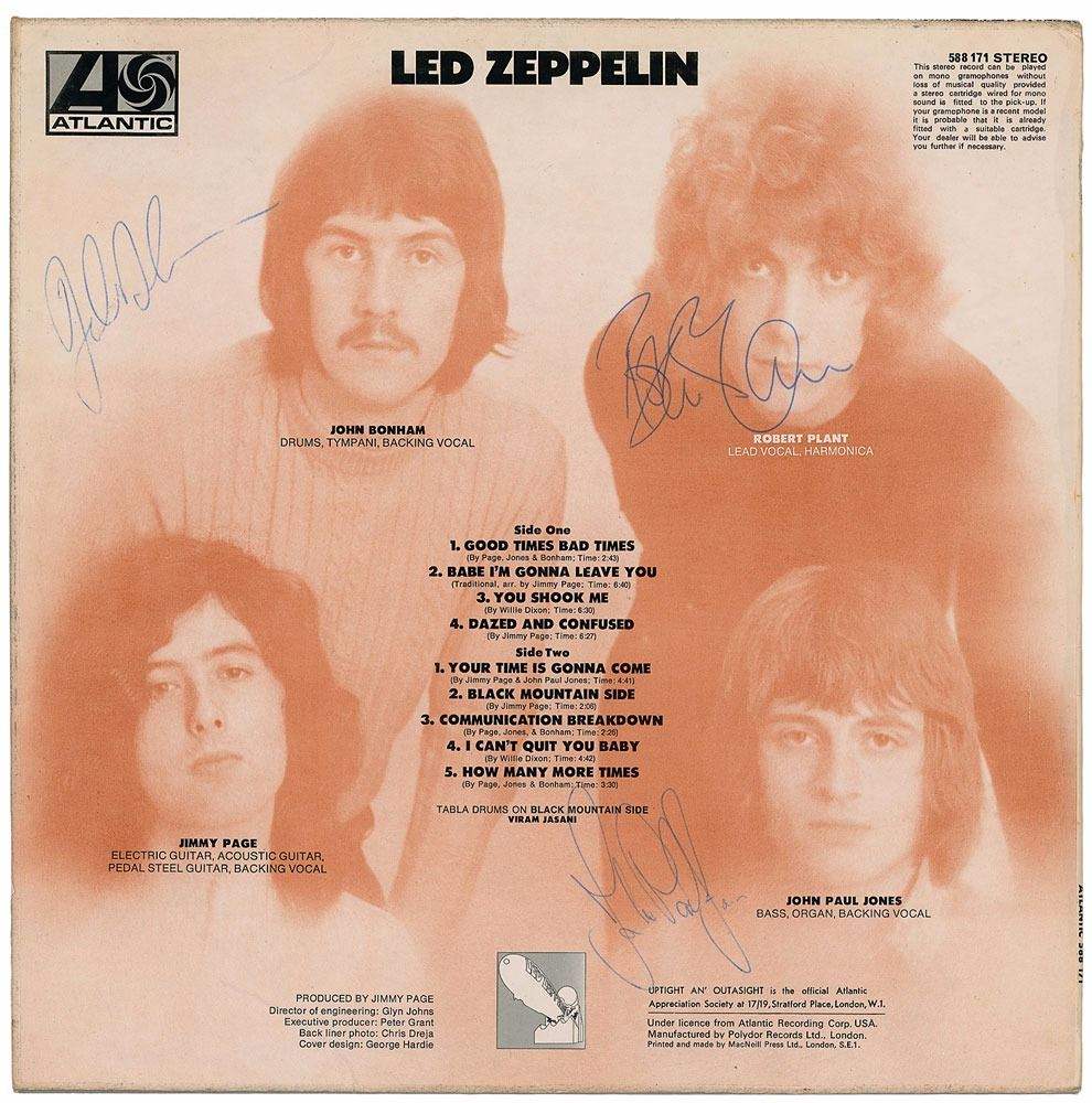 Led Zeppelin Signed Album