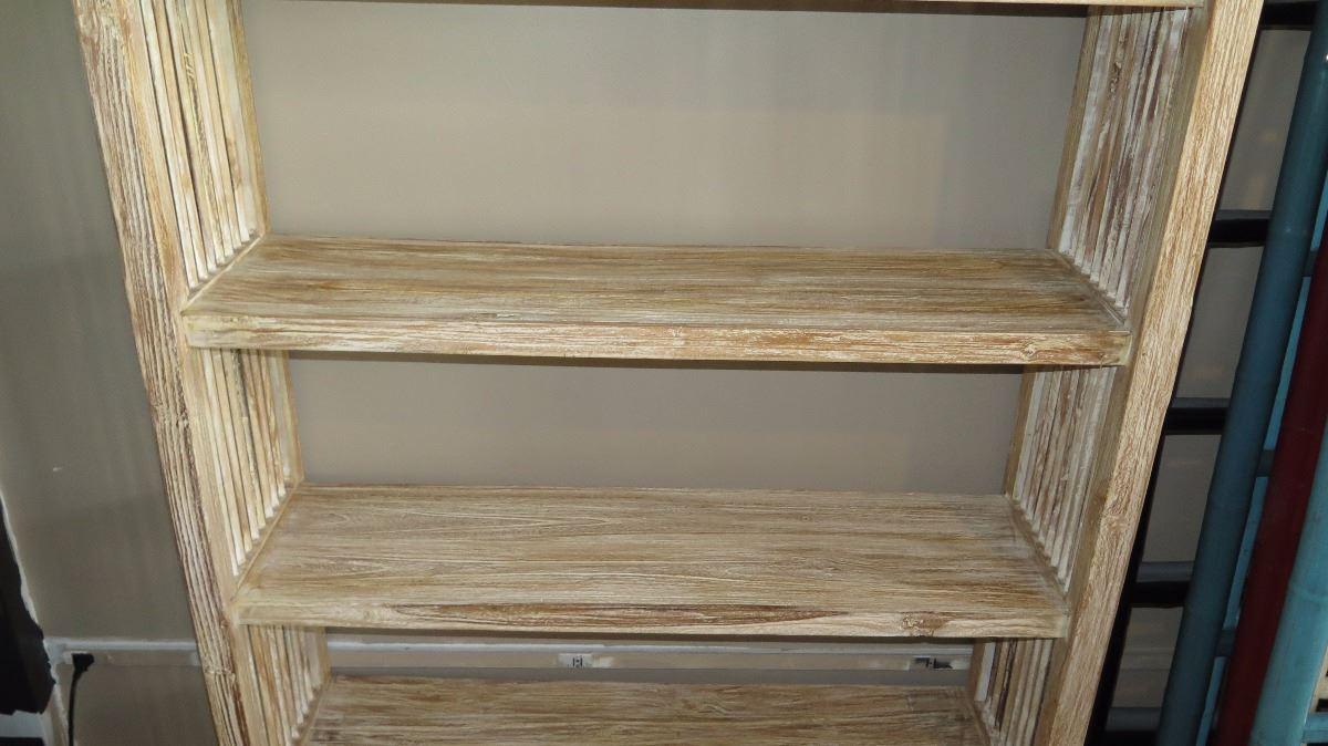 Hardwood Bookcase Shelving W 4 Bottom Drawers 47 X15 Dx75 5