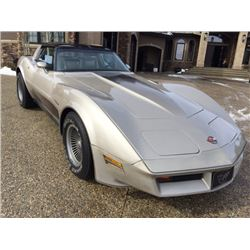 1982 CHEVROLET CORVETTE COLLECTOR EDITION CROSS FIRE INJECTION