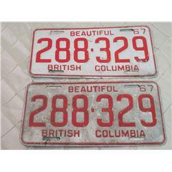 BC License Plates x2