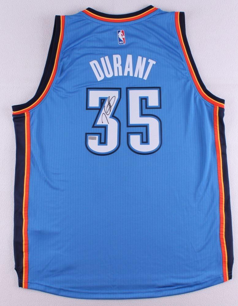 50a657108 Image 1   Kevin Durant Signed Thunder Adidas Jersey (Panini COA)