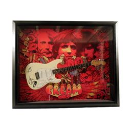 Cream Band Signed Guitar Framed