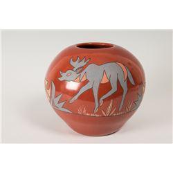 "Santa Clara Pueblo Pot by Belen Tapia, 7 ¾"" x 9 ½"""