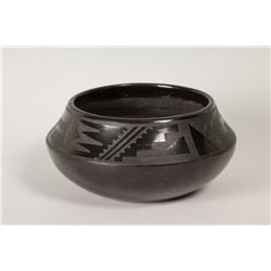 "San Ildefonso Pueblo Pot by Tonita and Juan Roybal, 3 ½"" x 8 ¼"""
