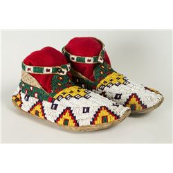 "Cheyenne Beaded Moccasins, 10"" long"