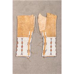 "Arapaho Woman's Beaded Leggings, 18"" long"