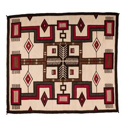 "Navajo Weaving, 4'9"" x 4'3"""