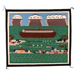 "Navajo Weaving, 4'4"" x 3'10"""