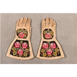 "Embroidered Metis Gauntlets, 13 ½"" long"