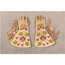 "Metis Embroidered Gauntlets, 13"" long"