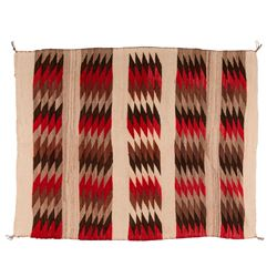 "Navajo Weaving, 4'8"" x 3'8"""