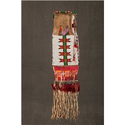 "Sioux Beaded and Quilled Pipebag, 28"" overall"
