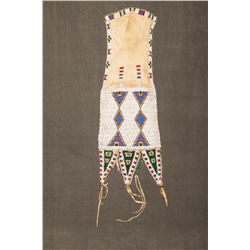 "Sioux Tab-style Beaded Pipebag, 19"" long"