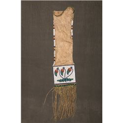 "Cree/Chippewa Quilled and Beaded Pipebag, 30"" overall"