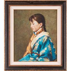 Jian Kuang, oil on panel