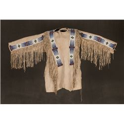 "Blackfeet Man's War Shirt, 63"" cuff to cuff"