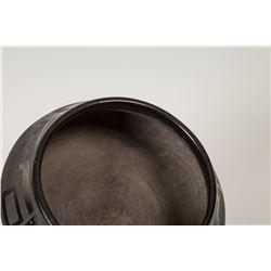 """San Ildefonso Pueblo Pot by Tonita Roybal, 5"""" x 6 ½"""""""