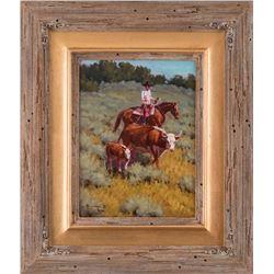 Bill Neal, oil on canvasboard