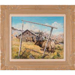 Joe Sykes, oil on canvasboard