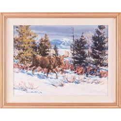 Bill Sawczuk, oil on canvas