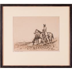 Edward Borein, two etchings