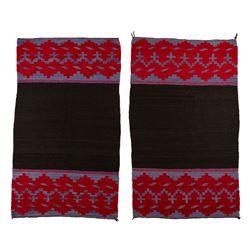 "Navajo dress pair, each 2'2"" x 3'8"""