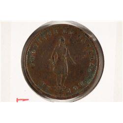 1852 QUEBEC HALF PENNY BANK TOKEN