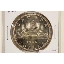 1966 CANADA SILVER DOLLAR UNC TONING SPOT