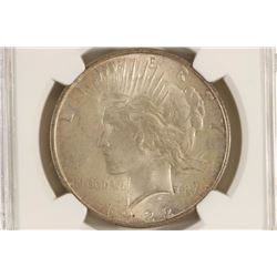 1922 PEACE SILVER DOLLAR NGC MS63