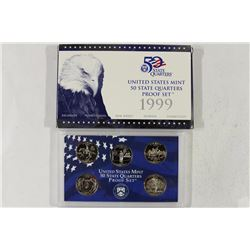 1999 US 50 STATE QUARTERS PROOF SET WITH BOX