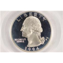 1994-S WASHINGTON SILVER QUARTER PCGS PR69 DCAM