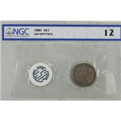 HARD TO FIND GSA SOFT PACK 1887 MORGAN SILVER $