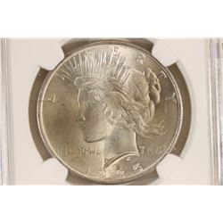1925 PEACE SILVER DOLLAR NGC MS64