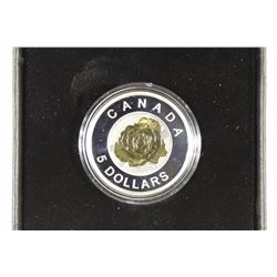 2014 CANADA $5 FINE SILVER COIN PROOF FLOWERS IN