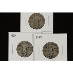 1925,27 & 28 STANDING LIBERTY QUARTERS