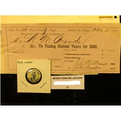 "1954 ""Roy Dunton Insurance Agency…Iowa City, Iowa Invoice; Shelby Co., Tenn. 1880 Tax Receipt; 1899"