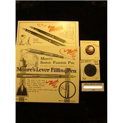 "1899 era Pin-back ""Knaul & Knauel Keep Smiling Chiropractors""; 1863 Great Britain Large Penny, VF; &"