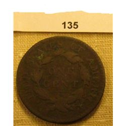 1817 U.S. Large Cent. Chocolate Brown, VG.