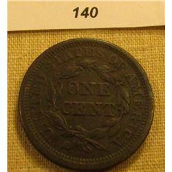 1845 U.S. Large Cent. VF Slightly porous.