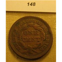 1855 U.S. Large Cent. Chocolate Brown, Upright 5 variety. Fine.