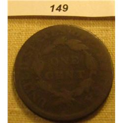 1814 U.S. Large Cent. Chocolate Brown, Plain 4 variety. Good.