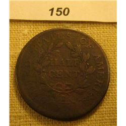 1804 U.S. Half Cent, VG.