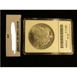 "1885 O U.S. Morgan Silver Dollar. ANACS slabbed ""MS 64""."