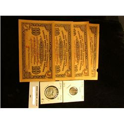 """Set of Four """"Riley Sweers Company's United Profit-Sharing Ten Coupon"""" scrip from the Depression era;"""