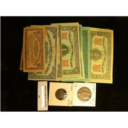 """(10) different """"United Cigar Stores Company of America""""; Italy: 1931 5c EF & 1866N 10c VF."""