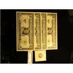 """5 Piece Set of """"Bicentennial Issue U.S. Election Three Dollar"""" U.S. Election Certificates, depicts J"""